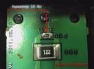 Платка с впаянным резистором на 10 Ом